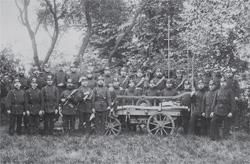 Ein altes Gruppenfoto der Eddelaker Wehr